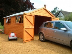 Heavy Duty Wooden Garage
