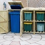 Double Wheelie Bin and Recycling Box Chest