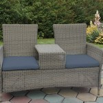 Frecan Wicker Love Seat