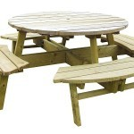 The Katie 80cm Round Picnic Table