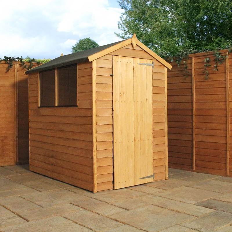 Overlap Apex Shed 6'x4'