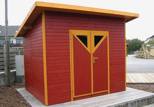 Taylors Garden Buildings Contemporary Range Made To Measure Pent Roof 19mm Shed 9 X7 9
