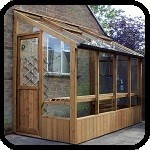 Finch Wooden Lean-To Greenhouse