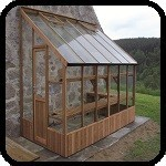 Dove Wooden Lean-To Greenhouse