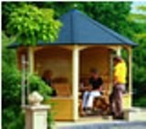 Lugarde Prima Christina Summerhouse 3m diameter - including Larch Floor