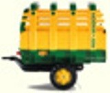 Single axle hay trailer for pedal tractors