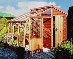 Malvern Retreat Greenhouse Potting Shed 14' x 6'9