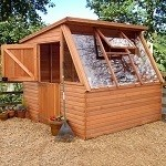 Malvern Solar Greenhouse Potting Shed 8' x 7'