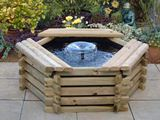 Medium Wooden Garden Pool Water Feature