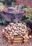 Small Pebble pool Wooden Water Feature