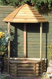 Flat Back Wishing Well Wooden Water Feature