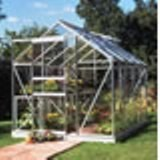 Halls Popular 86 Toughened Glass Greenhouse Package 8'4 x 6'3