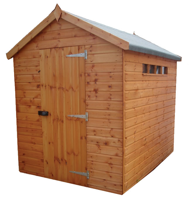 Traditional Security Shed Apex 4'x4'