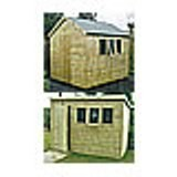 Traditional Pressure Impregnated Apex or Pent Shed 12'x12'