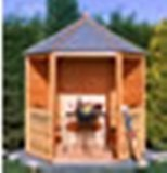 Gazebo Value Hexagonal Open Summerhouse 6' x 7'