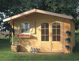 Solid Chamonix II Log Cabin (3.88mx3.28m)