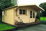Solid Chamonix IV Log Cabin (4.78mx4.18m)