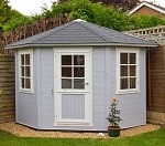 Solid Nancy II Corner Log Cabin (2.55mx2.55m)