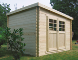 Solid Brest Log Cabin (2.98mx2.98m)