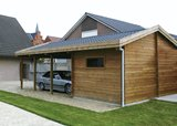 Classic Apex Carport with Storage Shed 3.74x6.31m