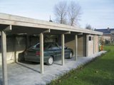 Flat Roof Carport with Storage 3.60x8.85m