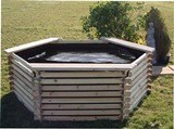 Large Wooden Garden Pool 400 Gallon