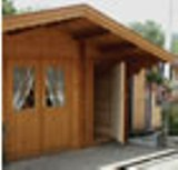 Cardiff 58mm Log cabin with Double glazing and a side room 5x3m