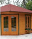 Penta5 Corner Log Cabin in 45mm 4x4m