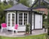 Bordeaux Octagonal Summerhouse with a Shed Extension 3m