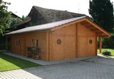 Log Cabin Double Garage 600 x 800cm