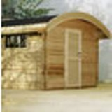 Curved Roof Cabin in 28mm Logs 3 x 2.5m
