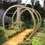 The Primrose Walk Pergola pressure Treated Green