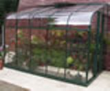 Forest Green Aluminium Silverline 106 Lean To Greenhouse (3.21m x 1.95m)