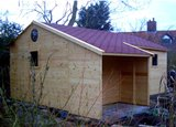 Heavy duty Workshop Garage with Log Store 20'x12'