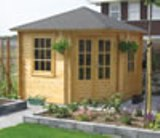 Ingrid Corner Log Cabin 3x3m