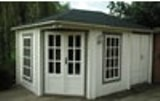 Burley Log Cabin 3x4.4m adjoining storage area