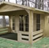 Alexei 45mm Log Cabin 5.85x4.3m Storage shed