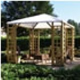 Open Pergola Gazebo With Fabric Roof 3 x 3m