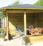 The Waldemar Corner Log Cabin Gazebo 3.5 x 3.5m