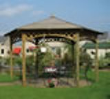 The Large Hexagonal Top Gazebo 4m dia