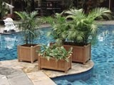 Bali Hardwood Rectangular Planter