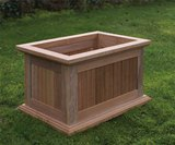 Flores Small Hardwood Profiled Rectangular Planter
