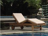 Teak Wembley Lounger