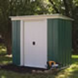 Rowlinson Pent Roof Metal Shed 8x4