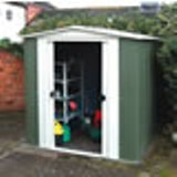 Rowlinson Apex Roof Metal Shed 8x6
