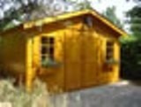 Maxi Saddle Roof Log Cabin 28mm 4x2