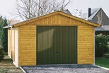 Traditional Log Garage 28mm 3x5