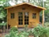 Maxi Log Cabin with Front Roof 28mm 4x2