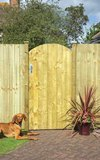 Arched Feather Edge Gate 0.91x1.85m