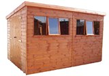Traditional Heavy Duty Pent Shed 20'x6'